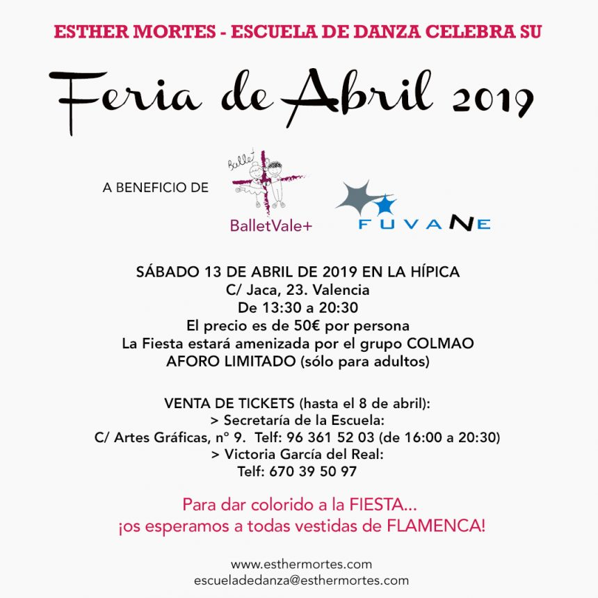 Feria de Abril 2019 de Esther Mortes – Escuela de Danza