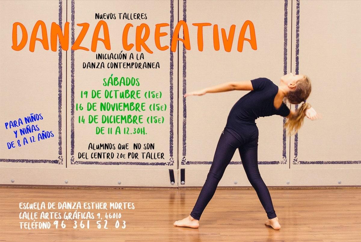 Talleres de Danza Creativa - Iniciación de la Danza Contemporánea para niños y niñas de 8 a 12 años