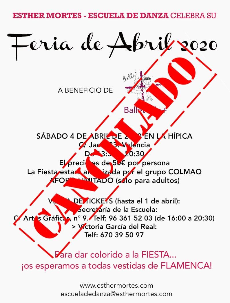 Cancelamos la Feria de Abril 2020 de Esther Mortes - Escuela de Danza