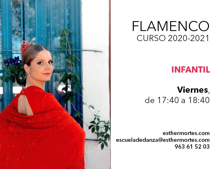 Flamenco Avanzado e Infantil - Horarios para el curso 2020-2021