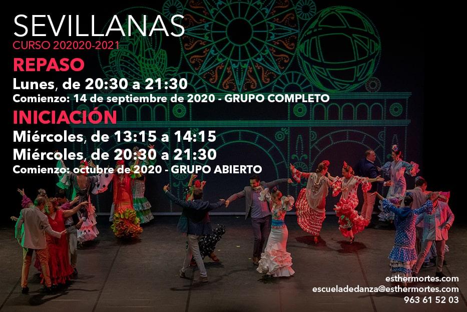 Sevillanas. ¡Grupos para el curso 2020-2021!